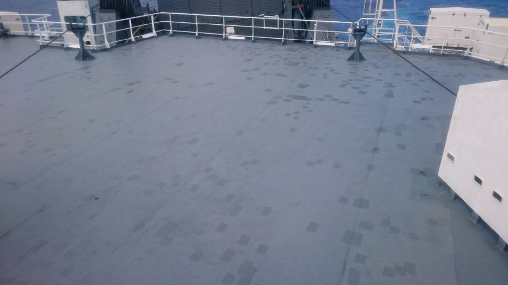 Upper deck after treatment